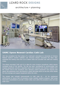 LRD Architects in Tucson, AZ. January 2013 Newsletter featuring Healthcare Renovations.